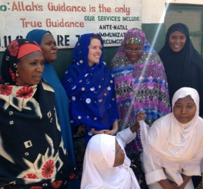 Visiting FOMWAN in Jos, a Muslim women's group who run a clinic